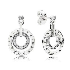 Pandora Round Drop Earrings